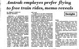 Amtrak Employes Prefer Flying to...