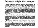 Engineers Knight 31 at Banquet