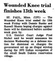 Wounded Knee Trial Finishes 13th...