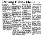 Driving Habits Changing