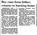 Boy Runs from Father, Returns to...