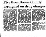 Five from Boone County Arraigned...