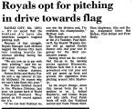 Royals Opt for Pitching in Drive...