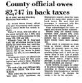 County Official Owes $2,747 in...