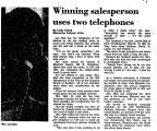 Winning Sales Person Uses Two...