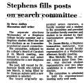 Stephens Fills Posts on Search...