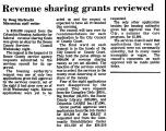 Revenue Sharing Grants Reviewed