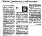 Nation, Presidency Will Survive