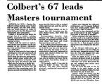 Colbert's 67 Leads Masters...