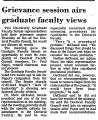 Grievance Session Airs Graduate...