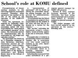 School's Role at KOMU Defined
