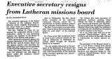 Executive Secretary Resigns from...