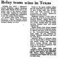Relay Team Wins in Texas