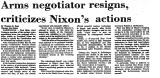 Arms Negotiator Resigns,...
