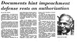 Documents Hint Impeachment...