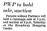 PWP to Hold Sale, Auction