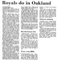Royals Do in Oakland