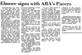 Elmore Signs with ABA's Pacers