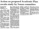 Action on Proposed Academic Plan...