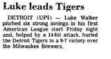 Luke Leads Tigers
