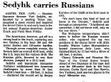 Sedyhk Carries Russians