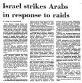 Israel Strikes Arabs in Response...