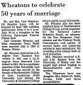 Wheatons to Celebrate 50 Years of...