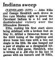 Indians Sweep