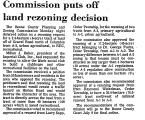 Commission Puts off Land Rezoning...