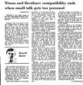 Nixon and Brezhnev Compatibility...