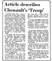 Article Describes Chenault's Troop