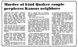 Murder of Kind Quaker Couple...