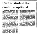 Part of Student Fee Could be...