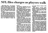 NFL Files Charges as Players Walk