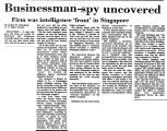 Businessman-Spy Uncovered