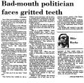 Bad-Mouth Politician Faces...