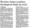 Russian Clergy Continue...