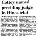 Cottey Named Presiding Judge in...