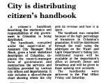 City is Distributing Citizen's...