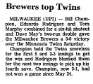 Brewers Top Twins