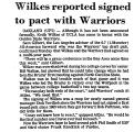 Wilkes Reported Signed to Pact...