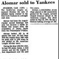 Alomar Sold to Yankees