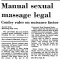 Manual Sexual Massage Legal