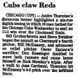 Cubs Claw Reds