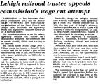 Lehigh Railroad Trustee Appeals...