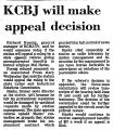 KCBJ Will Make Appeal Decision