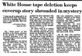 White House Tape Deletion Keeps...