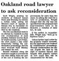 Oakland Road Lawyer to Ask...