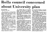 Rolla Council Concerned About...