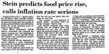 Stein Predicts Food Price Rise,...